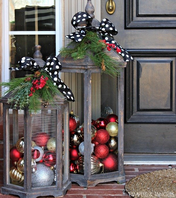 Christmas Lanterns II · Here is an awesome tutorial for how to make wood  lanterns out of scrap wood - 100 Best Porch Christmas Decorations - Prudent Penny Pincher
