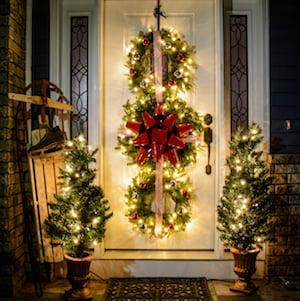 DIY Christmas Wreath Triofor Front Door