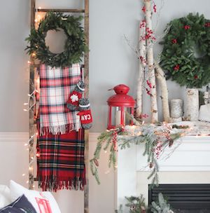christmas ladder tutorial for how to make the ladder 10 blanket ladder - Christmas Ladder Decor