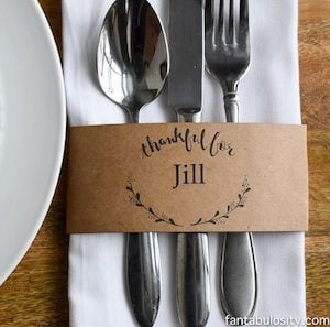 free printable Give Thanks Place Cards