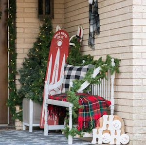 Christmas Front Porch Tour