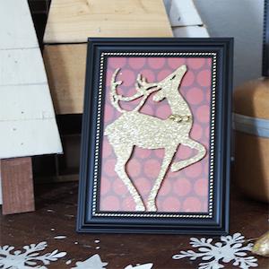 dollar store framed reindeer glittery reindeer 57 frames foam mount stickers christmas patterned paper - Dollar Store Frames