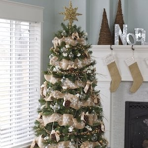 rustic christmas trees and ornaments dream tree challenge
