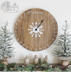 DIY Wood Clock Christmas Advent Calendar Wood Board + Clock Hand + Wood  Glue + Screws + Sander + Stain And Paint + Stencils + Felt