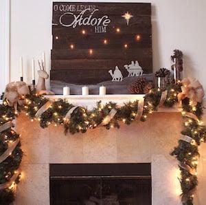 rustic christmas mantel - Rustic Christmas