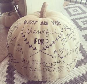 Thankful Pumpkin Centerpiece Thanksgiving Table Decor