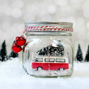 Mason Jar Snow Globe