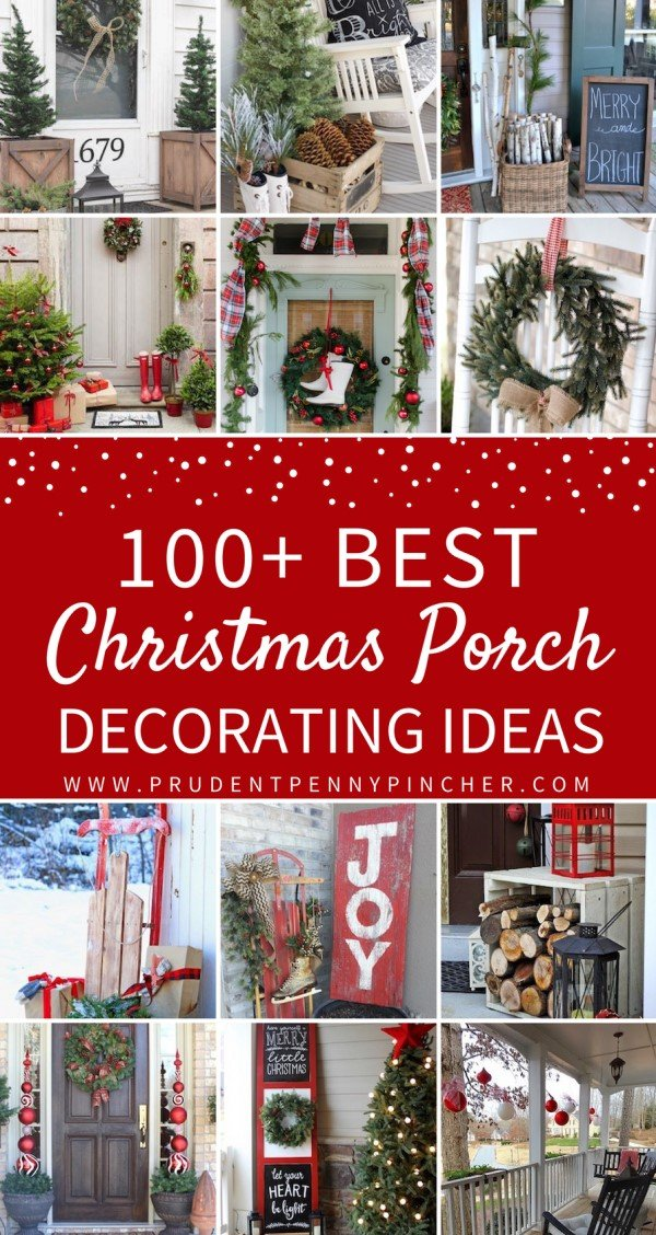 100 best christmas porch decorations - Best Christmas Door Decorations