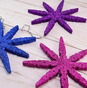 Clothespin Snowflake Ornaments
