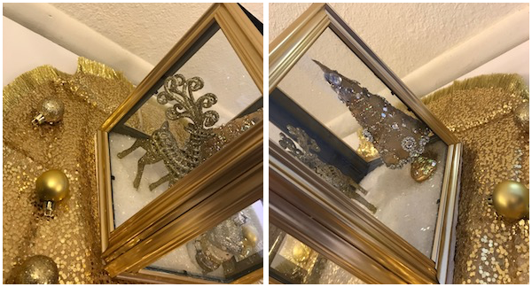 you can paint the frame any color you want and put anything you want inside some other ideas are candles - Dollar Tree Photo Frames