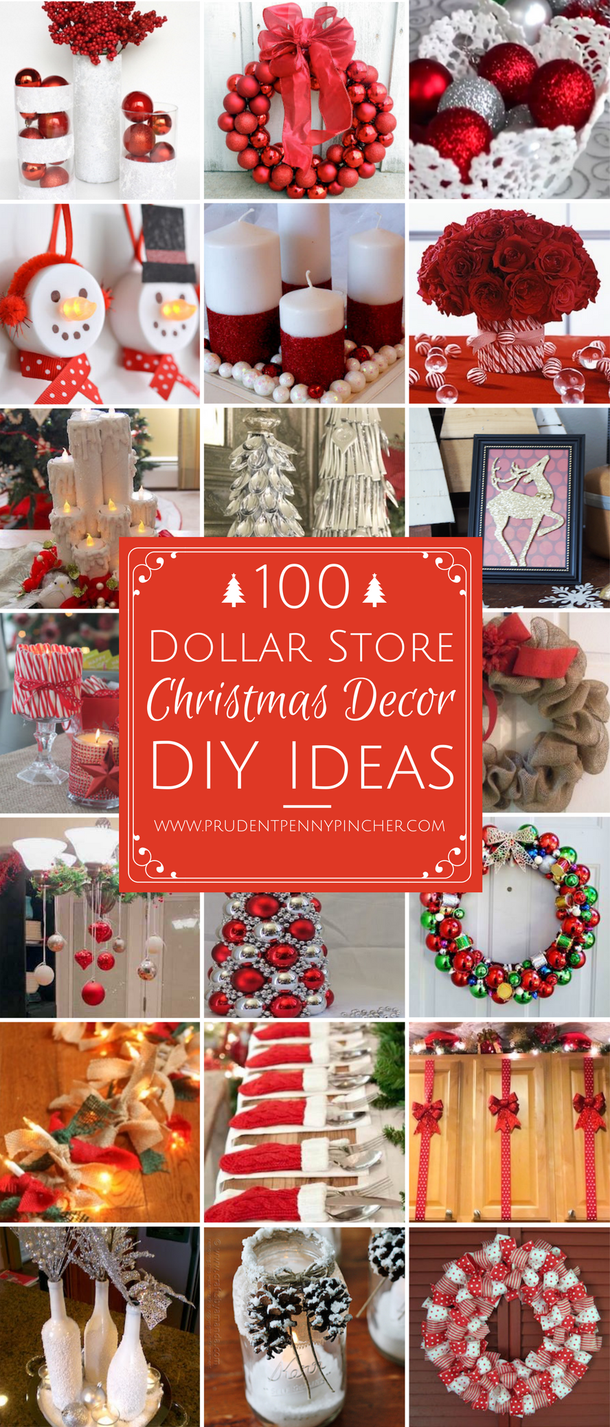 Famous 100 Dollar Store Christmas Decor DIY Ideas - Prudent Penny Pincher WO18