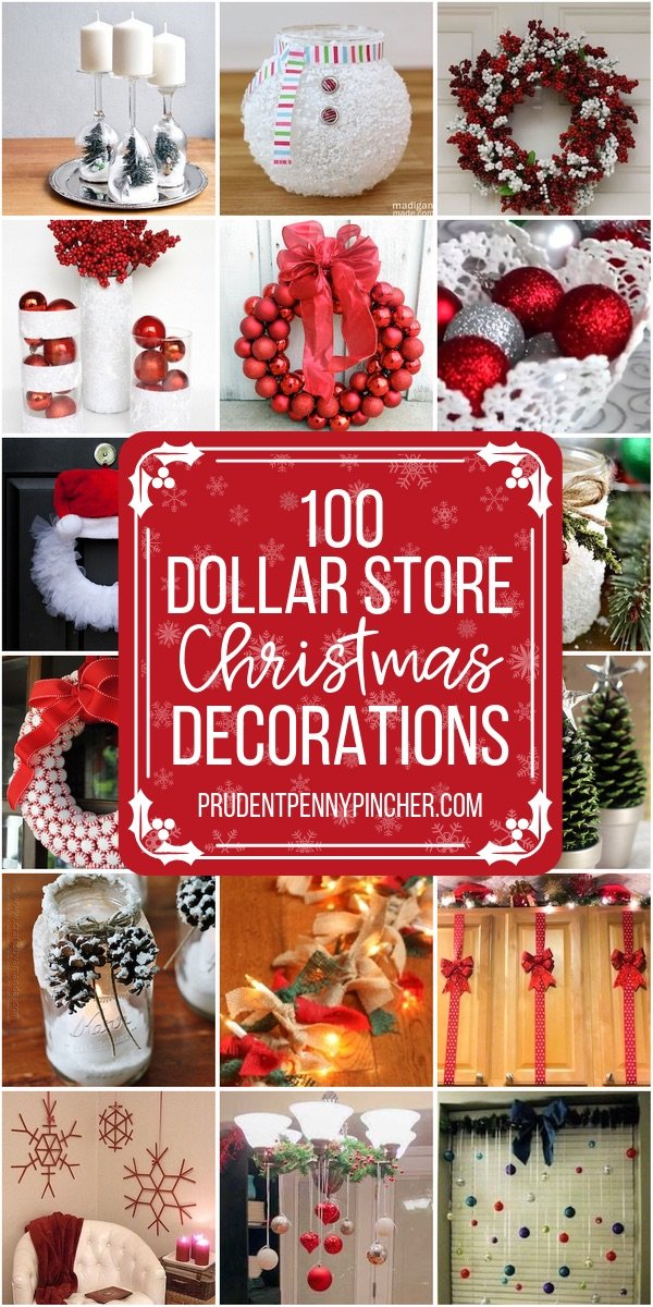 100 Diy Dollar Store Christmas Decor Ideas Prudent Penny Pincher
