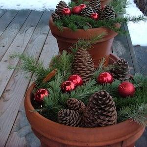 Terra Cotta Christmas Decoration