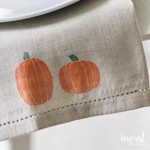 Pumpkin Stamped Napkin