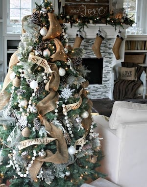 woodsy christmas tree - Rustic Christmas Decor