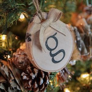 DIY Birch Initial Ornaments