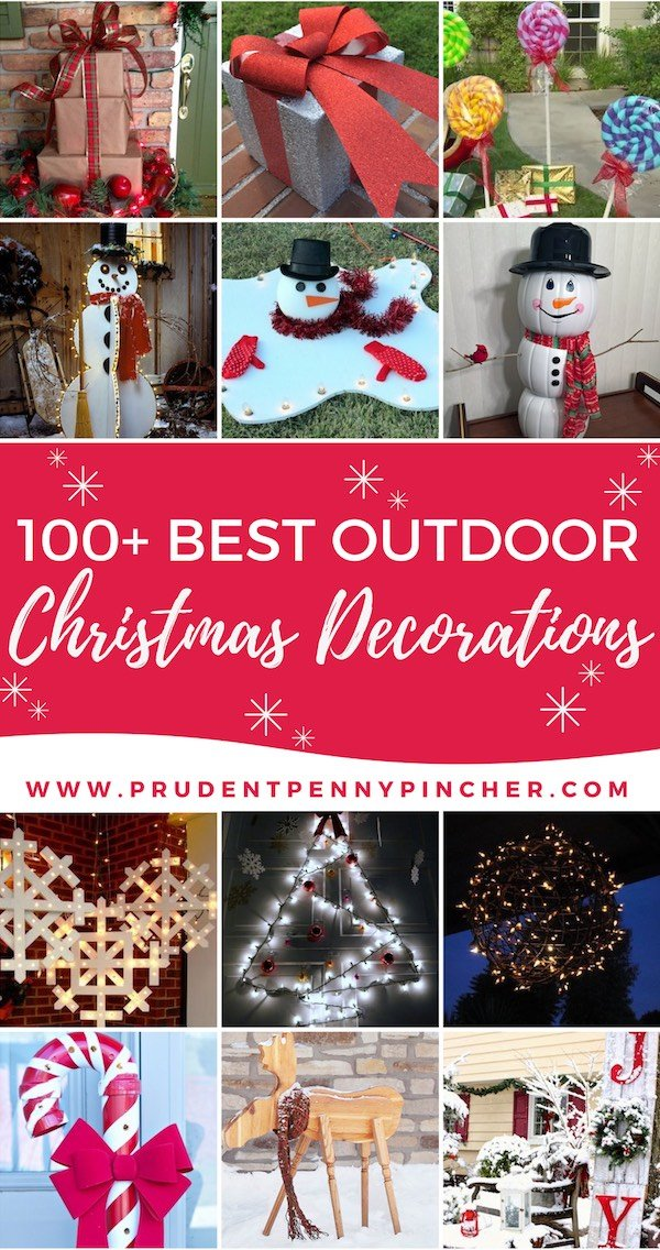 100 best outdoor diy christmas decorations - Outdoor Christmas Decorations 2017