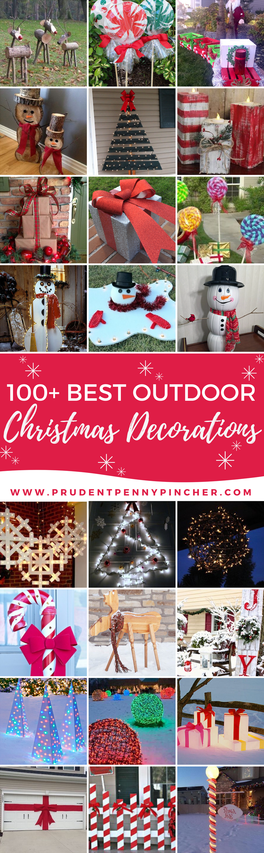 100 Best Outdoor DIY Christmas Decorations Prudent Penny Pincher