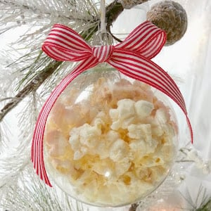 Fun Popcorn Glass Ball Ornament
