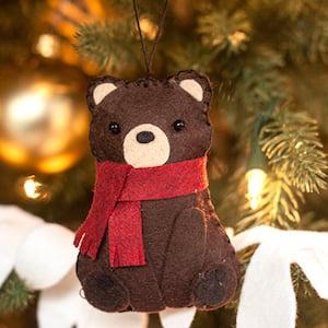 Felt Christmas Bear Ornament