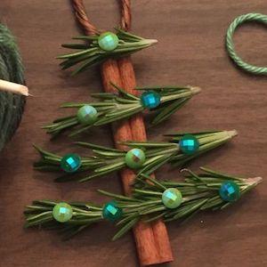 Cinnamon Stick Christmas Tree Ornaments