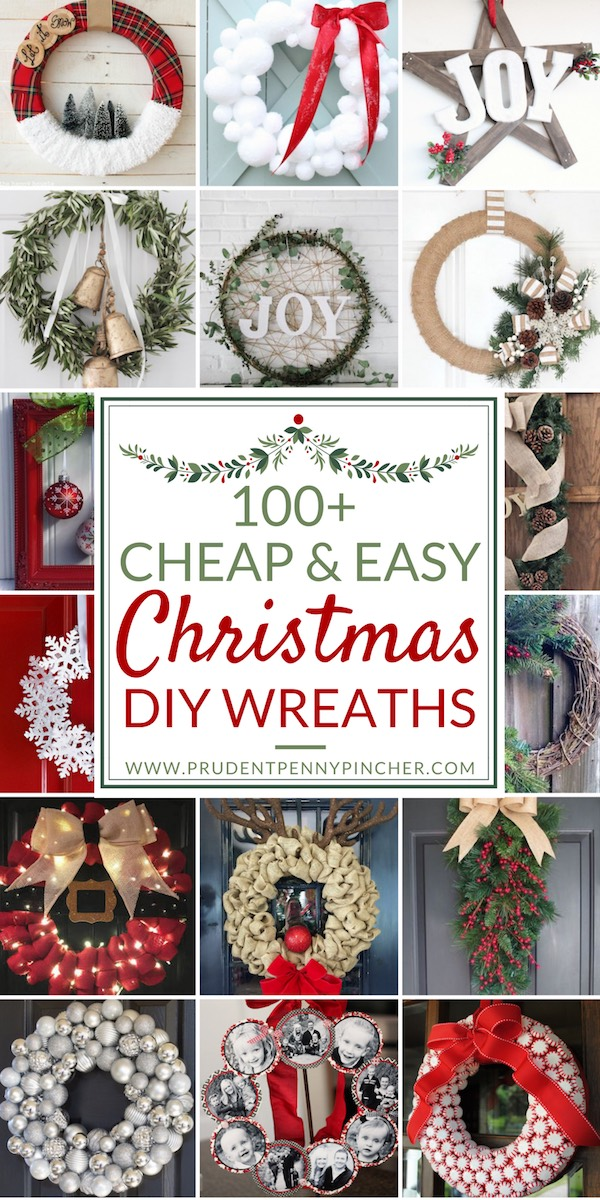 100 cheap and easy diy christmas wreaths