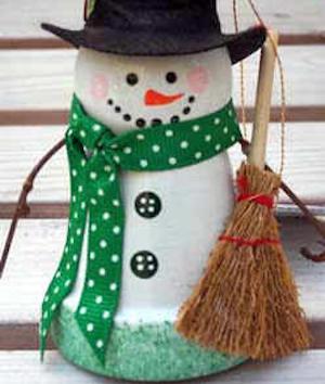 DIY Clay Pot Christmas Craft