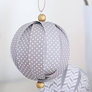 Homemade Paper Ball Christmas Ornaments