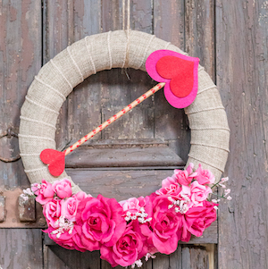 15 DIY Valentines Day Wreaths You Can Craft (Part 1)