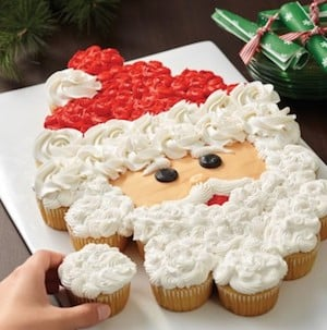 Santa Pull-Apart Cupcake Face