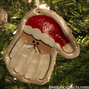 handprint santa salt dough ornament 100 best crafts prudent pincher 6693