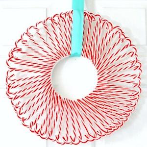 $3 Candy Cane Wreath