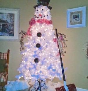 easy Snowman Christmas Tree