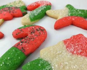 Marble Christmas Sugar Cookies