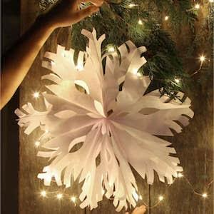 Giant 3D Paper Snowflake Pendants