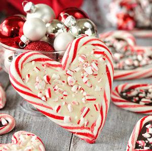 Peppermint Bark Christmas Candy Cane Hearts