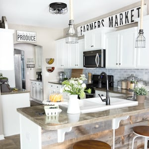 modern farmhouse kitchen makeover reveal - Farm House Kitchen