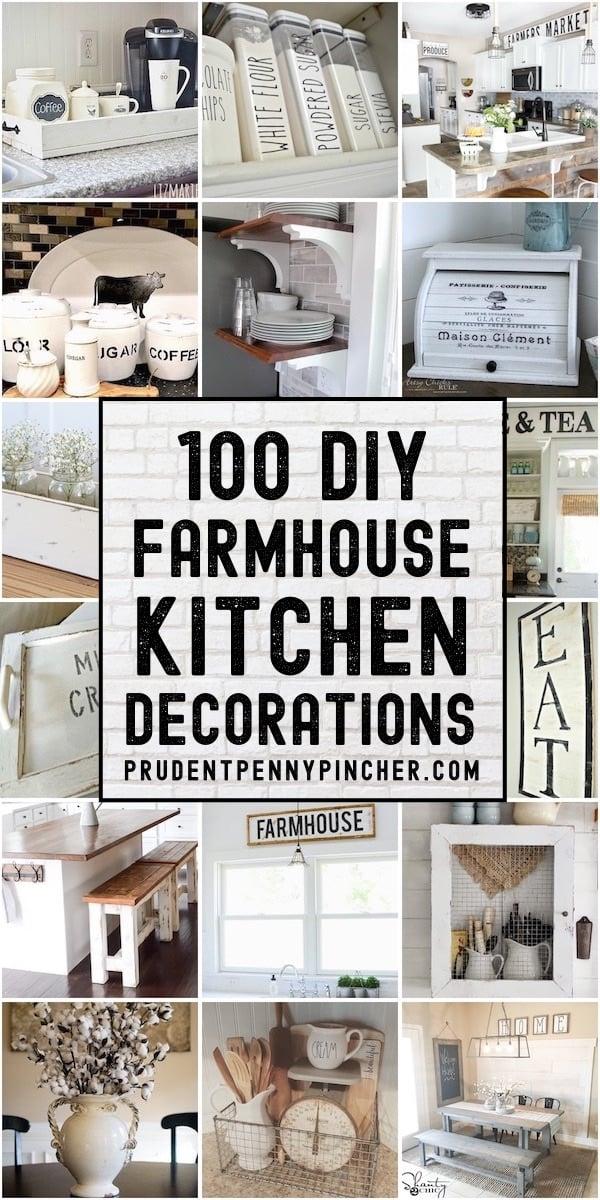 100 Diy Farmhouse Kitchen Decor Ideas Prudent Penny Pincher