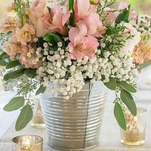 150 best diy rustic wedding ideas prudent penny pincher rh prudentpennypincher com Black Metal Vases Galvanized Bucket Centerpiece Ideas