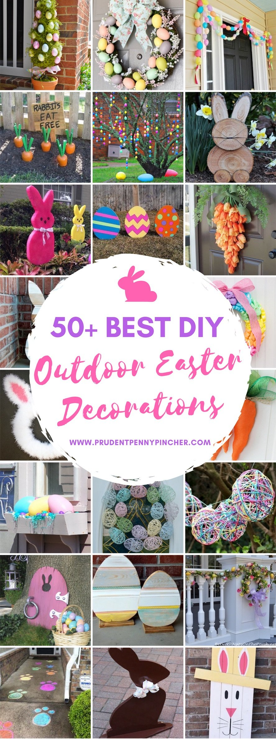 50 Best DIY Outdoor Easter Decorations - Prudent Penny Pincher