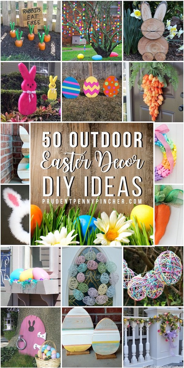 50 Outdoor DIY Easter Decor Ideas