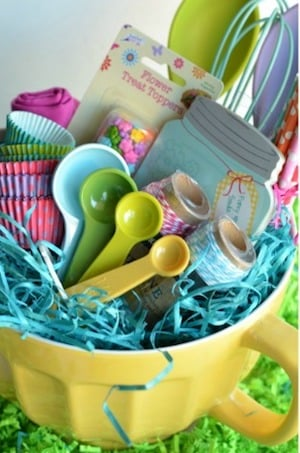 60 best diy easter basket ideas prudent penny pincher baking easter basket from a night owl negle Images