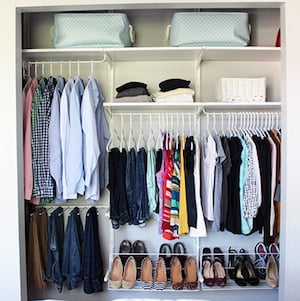 How To Organize A Small Closet From Just A Girl And Her Blog