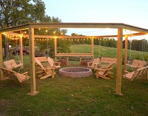 DIY Fire Pit with Swings