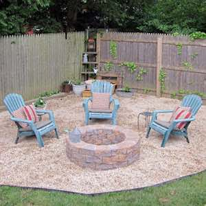 Fire Pit with Gravel