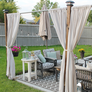 100 diy patio privacy screen from thrifty and chic - Diy Patio