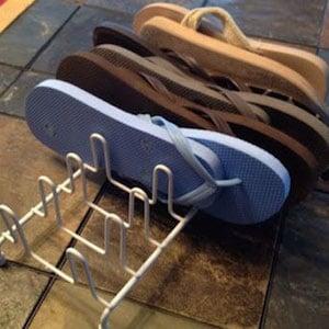 Plate Rack Flip-Flop Organizer
