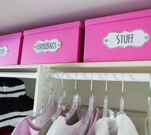 Bin Clothes Closet Organizing