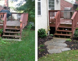 Front Porch Steps Walkway Makeover Source Unknown