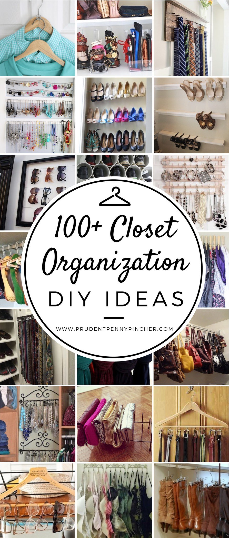 100 Best DIY Closet Organization Ideas - Prudent Penny Pincher